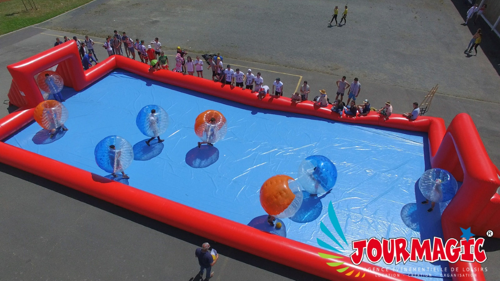 Les bubble football ou bulles de foot